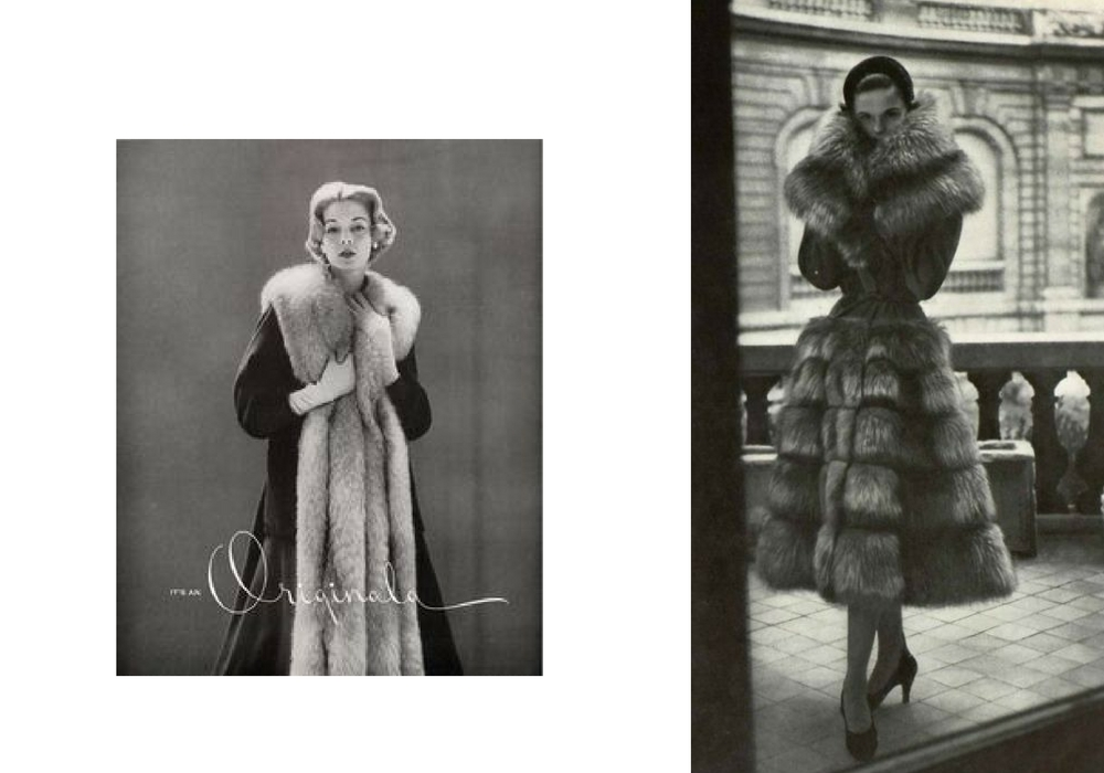 fur stole and fur jacket vintage