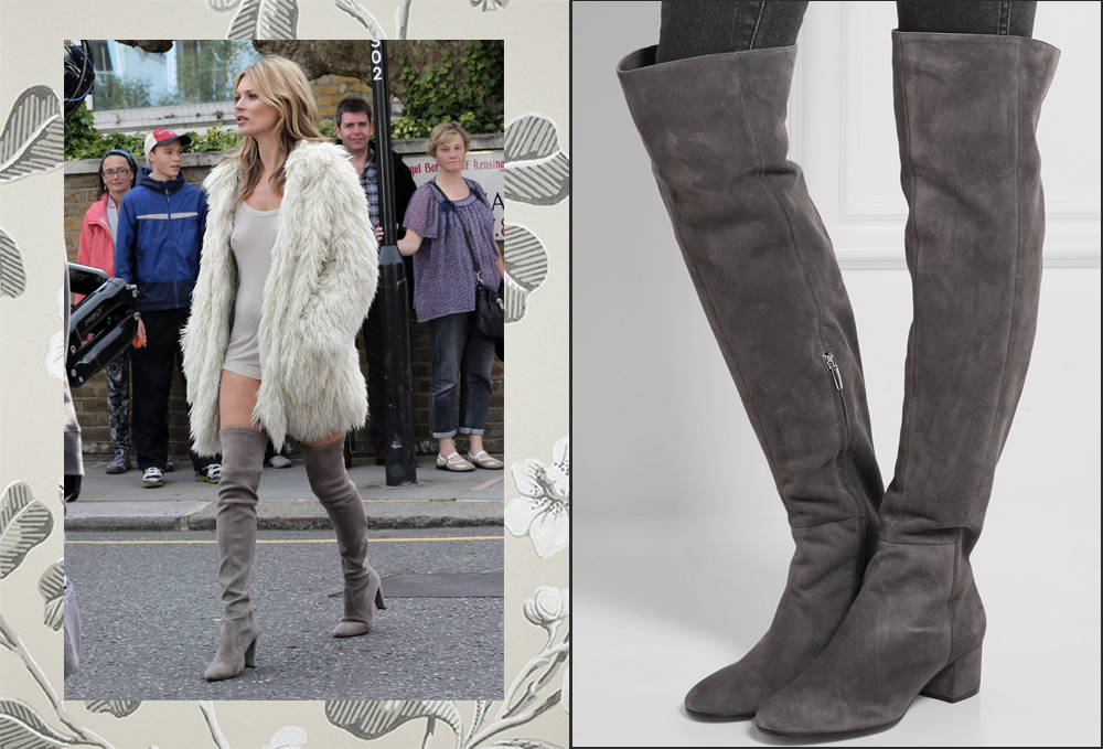 dresses with knee high boots fur