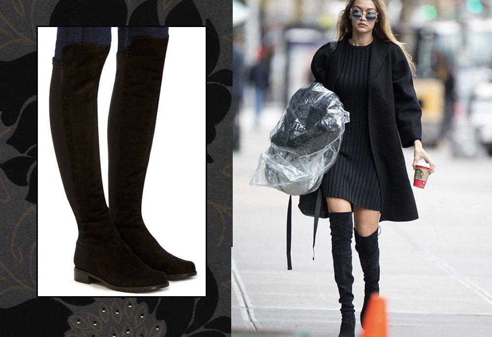 dresses with knee high boots gigi hadid