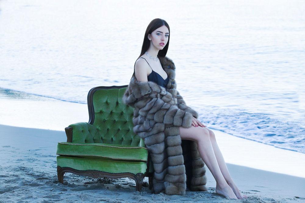 lady fur sable vest