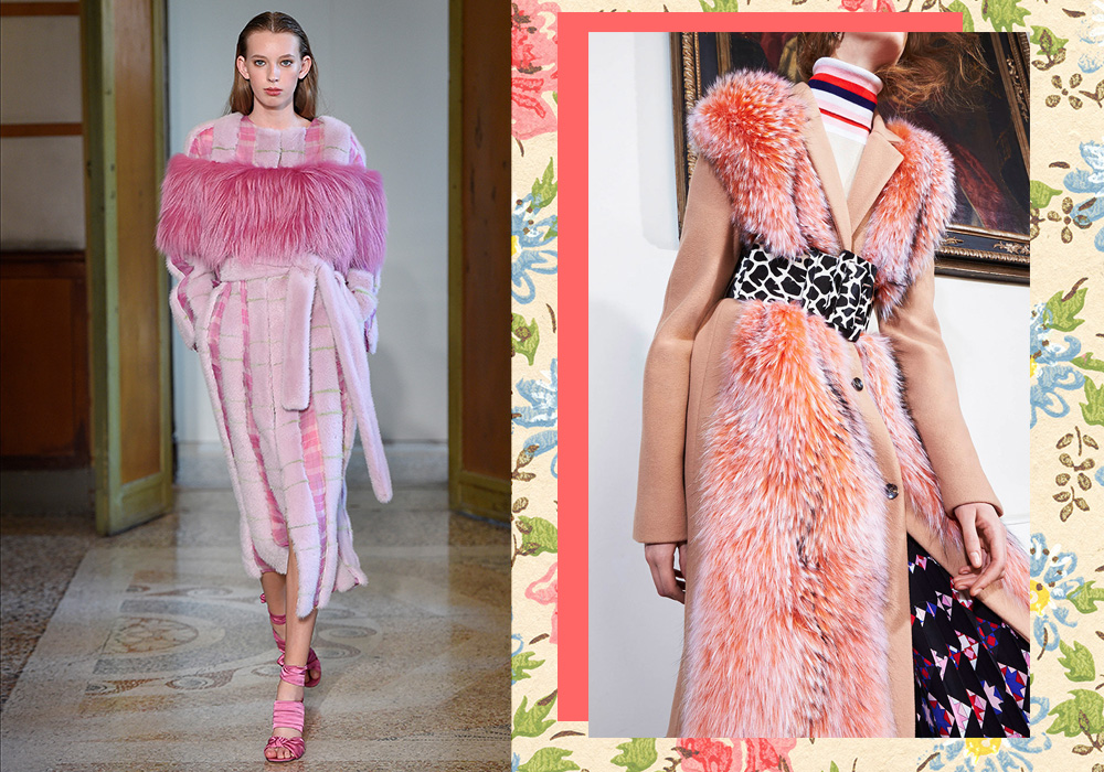 blumarine emilio pucci fur coats 2017