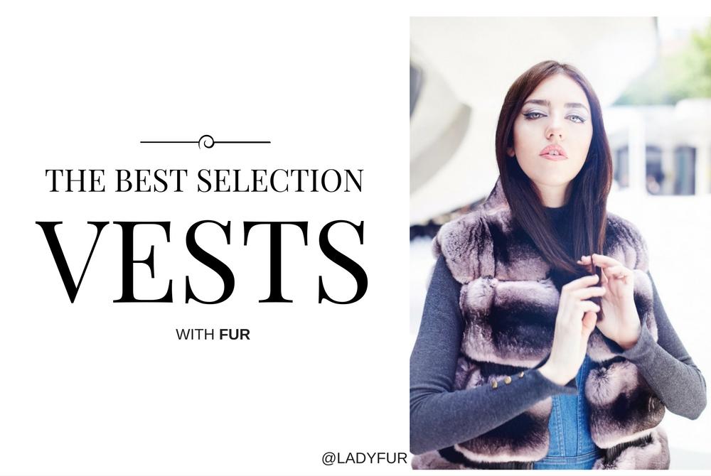 fur vest selection lady fur