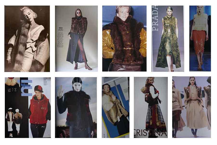 fur vest vintage