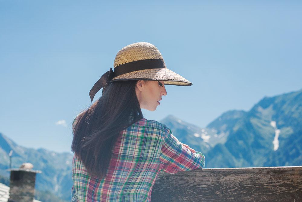 Lady Fur in mountain