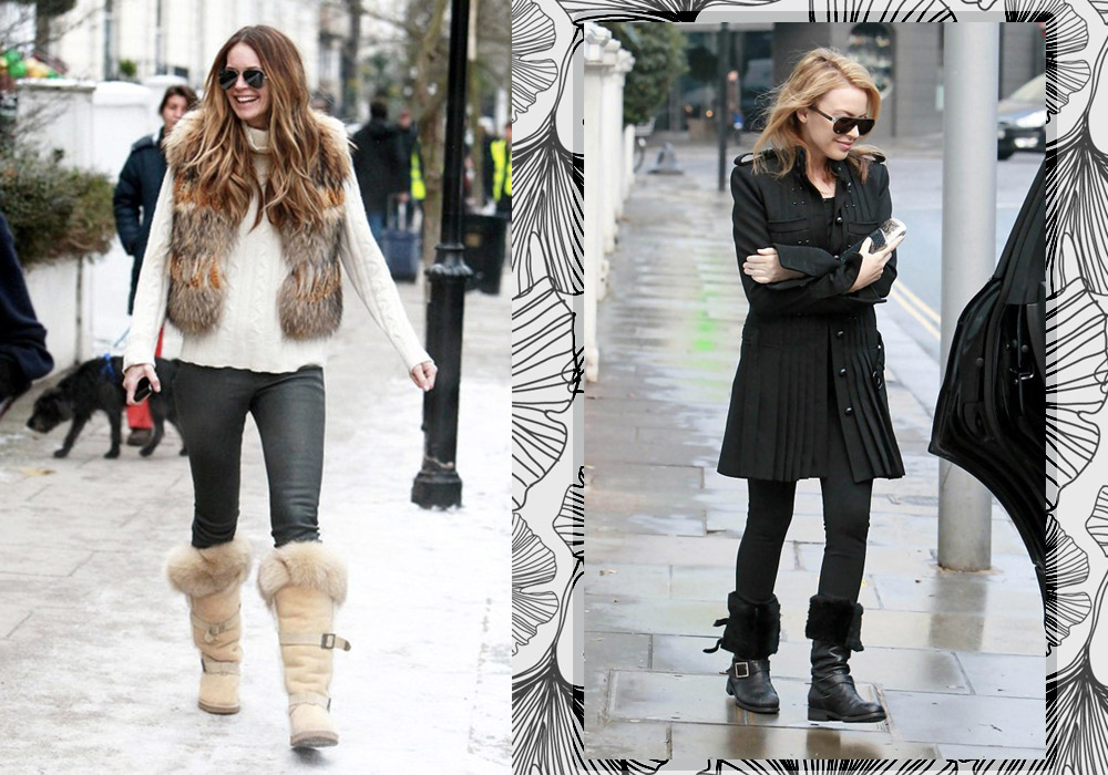 fur boots celebrity