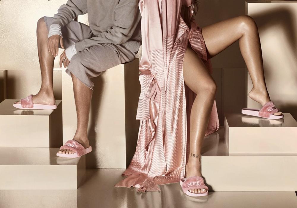 fur slippers puma