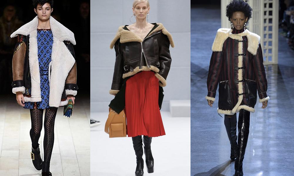 shearling coat selection