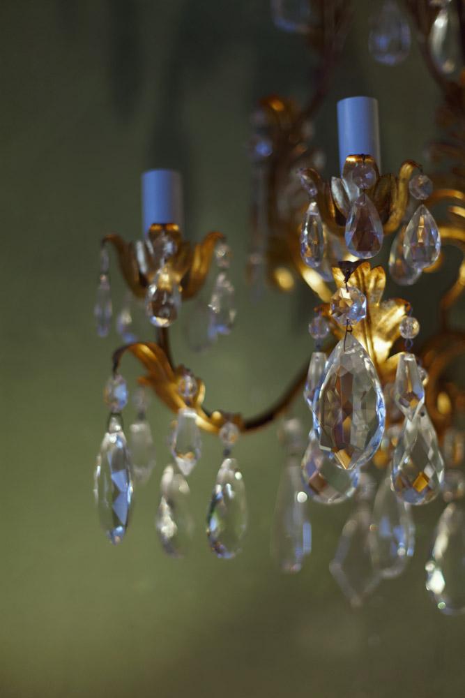 datails of lamp light shop milan