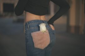 jeans with fur lady fur