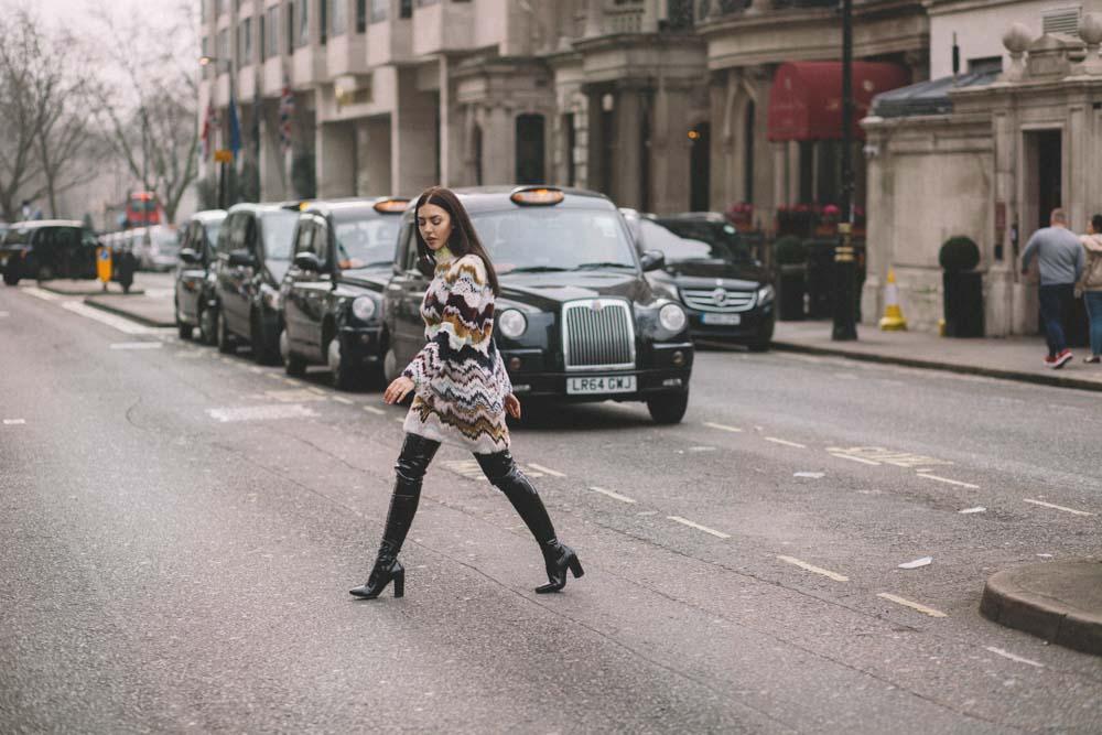 fashion fur dress worer by lady fur