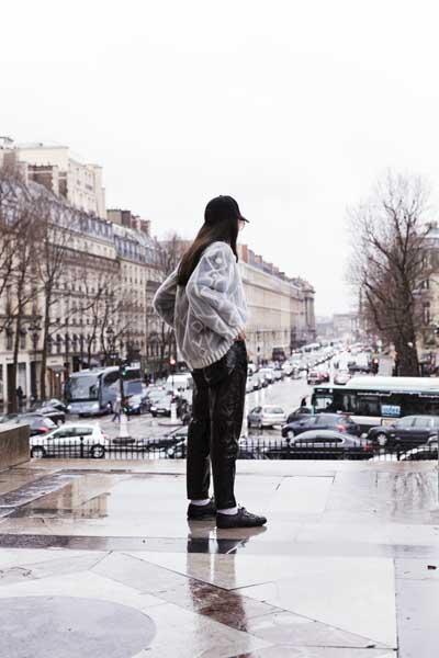 lady fur street style photo fur coat