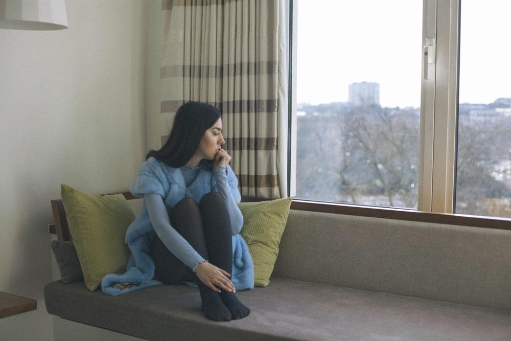 blue vest lady fur london saint germen