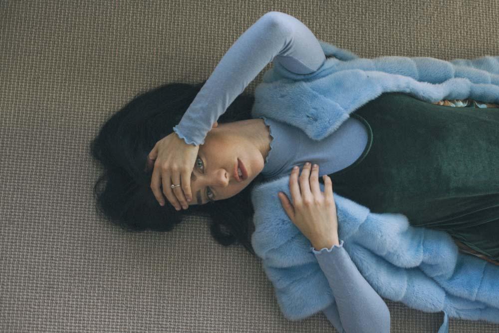 lady fur wearing economical fur saint germen