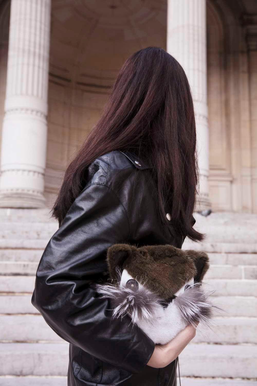 fur outfit lady fur