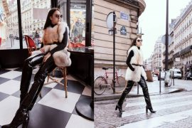 white for fur wore by me lady fur in paris