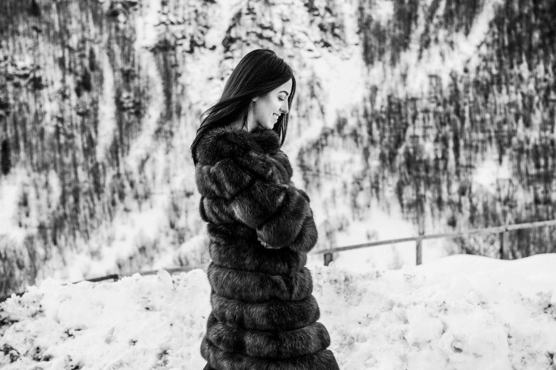 sable fur coat lady fur