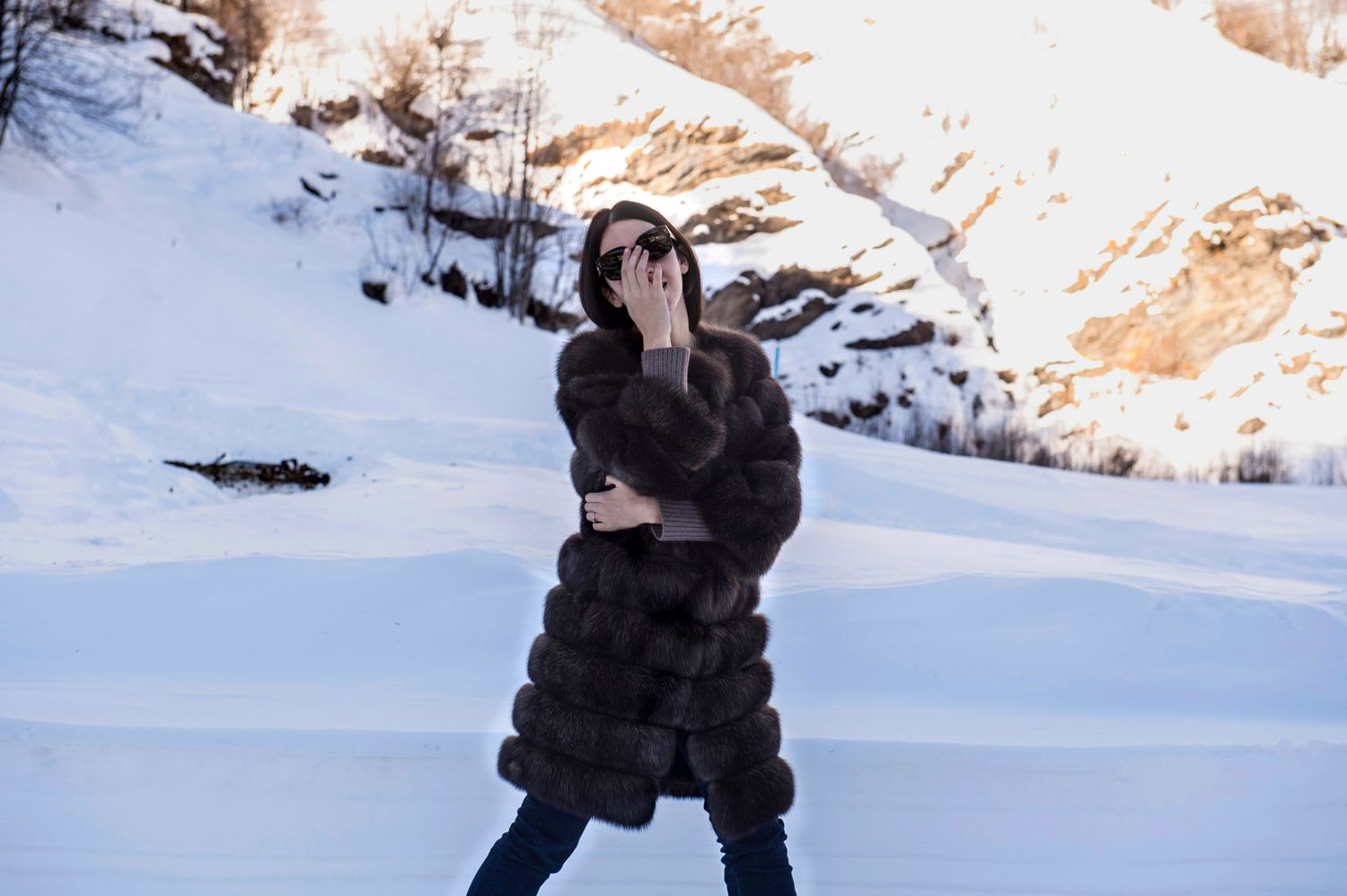 christina ghilemetti sable fur wore by lady fur