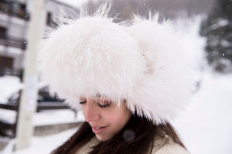 lady fur chanel fur hat