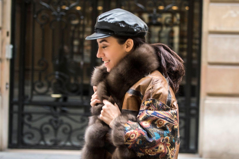 happy lady fur