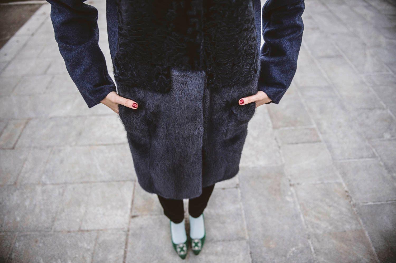 fur coat in milan