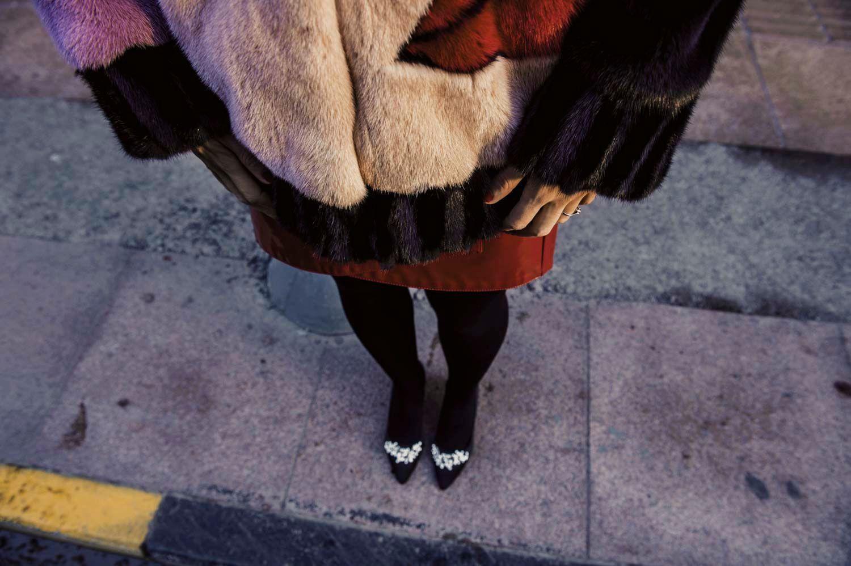 mink coat details