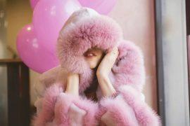 bazinas furs pink fur coat