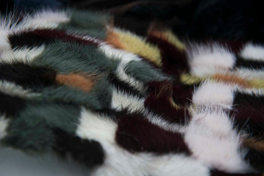 intarsia with fur
