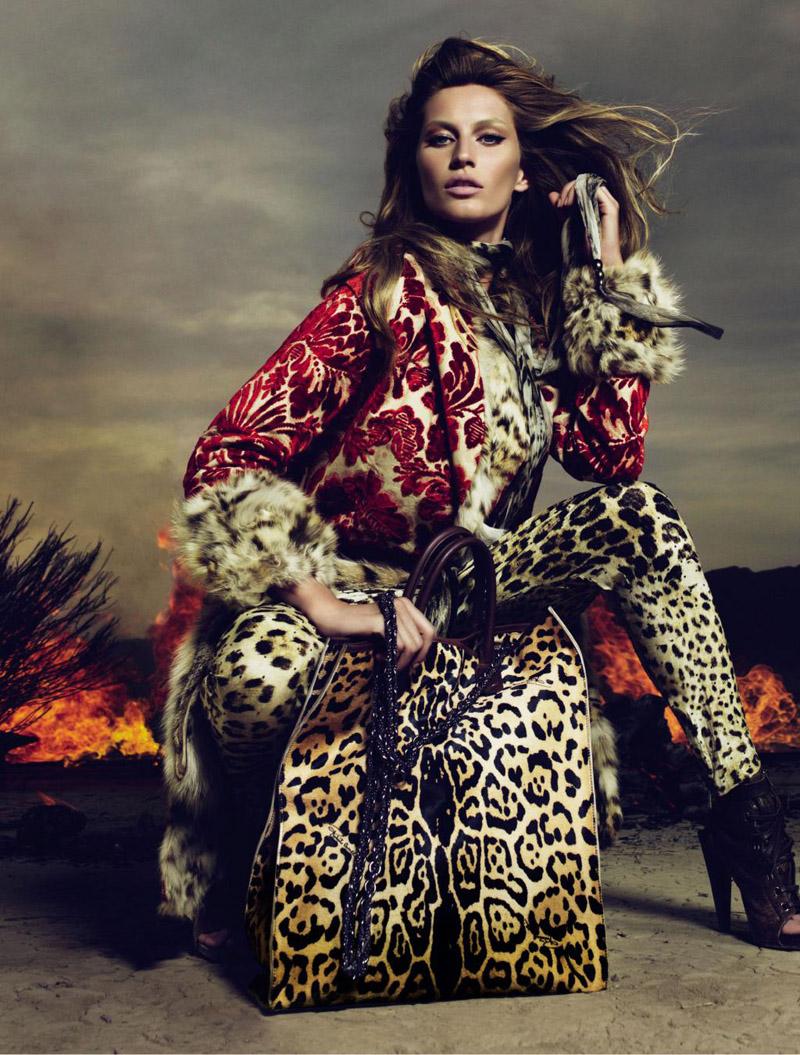 fake fur is not organic Gisele Bundchen