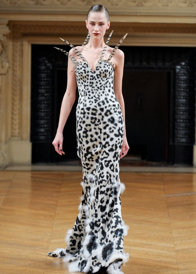 Alexis Mabille long elegant fur vest