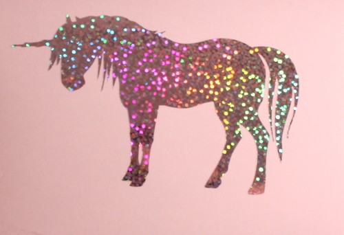 unicorn in pink lighting colors
