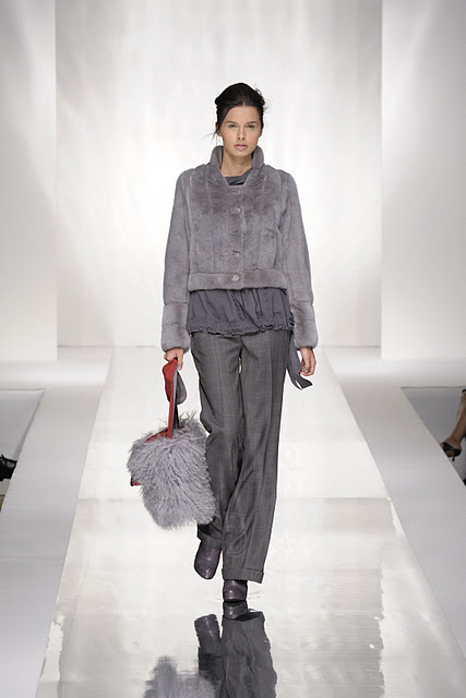 Carlo Ramello grey fur dress