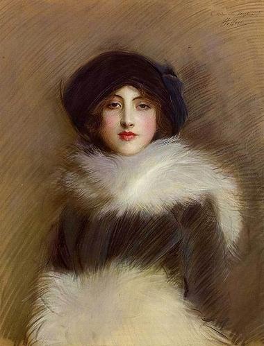 Edwardian Belle Epoque beautiful fur coat