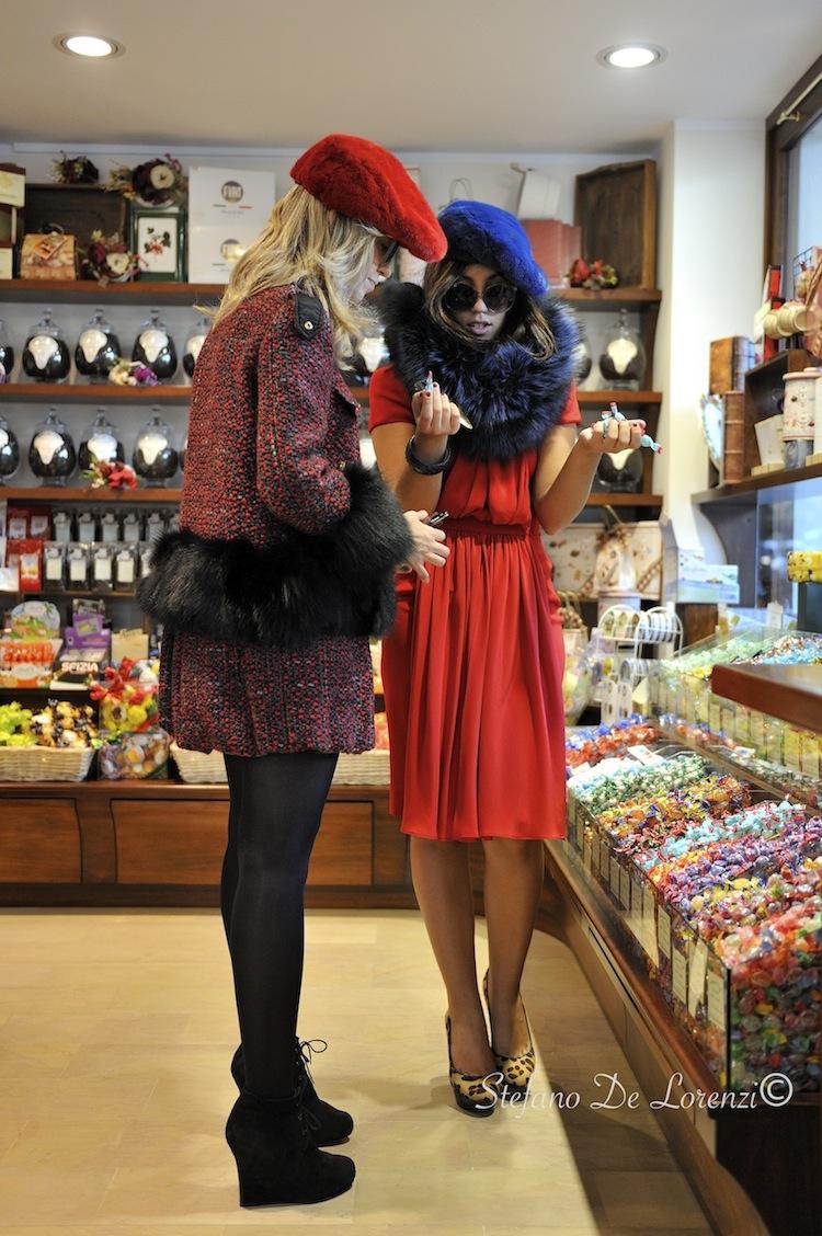 fur lovers in a shop