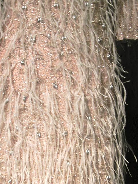 light pink fur dress
