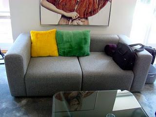 Long sofa inside Kopenhagen auction house