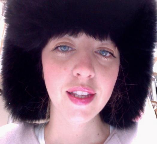 lady fur with fur hat