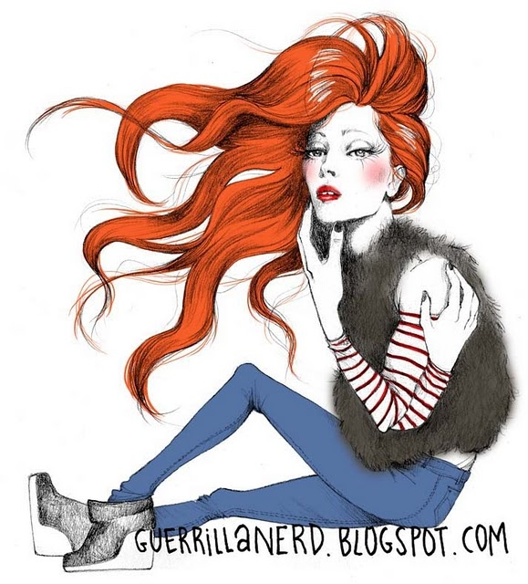 fur fashion draw - very beautiful-