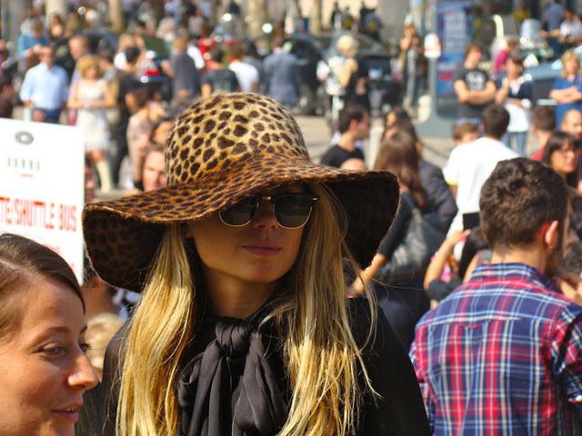 Woman fur hat