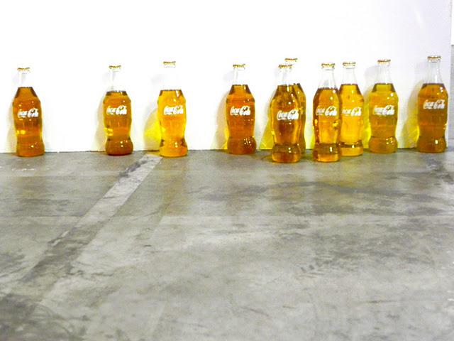 artissima turin art fair coca cola bottles