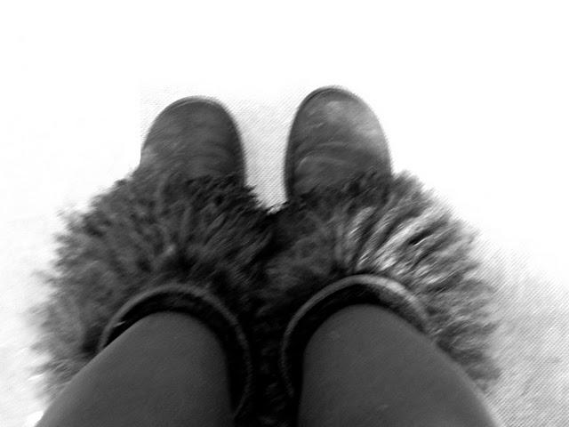 fur boots lady fur