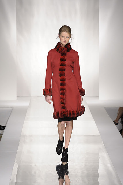 Carlo Ramello red fur long vest