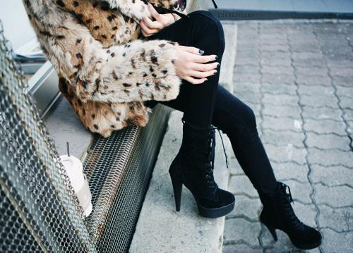 spotted fur jacket